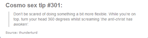 Funny bedroom tip about heating things up in the bedroom which sounds more like an exorcism