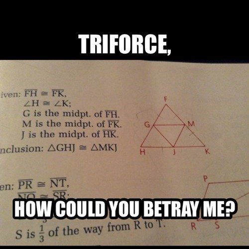 legend of zelda triforce test video games math funny - 7856898816