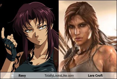 lara croft,revy,anime,totally looks like,funny