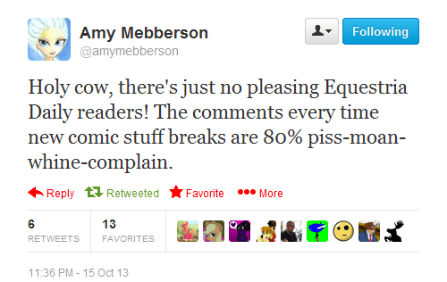 equestria daily,twitter,comments,MLP,amy mebberson