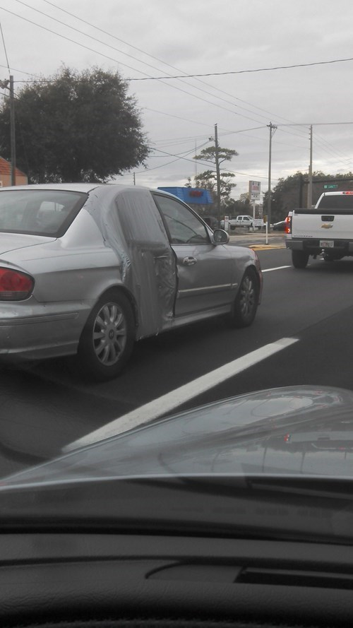cars,duct tape,there I fixed it