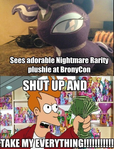 nightmare moon,shut up and take my money,Plushie,MLP,rarity