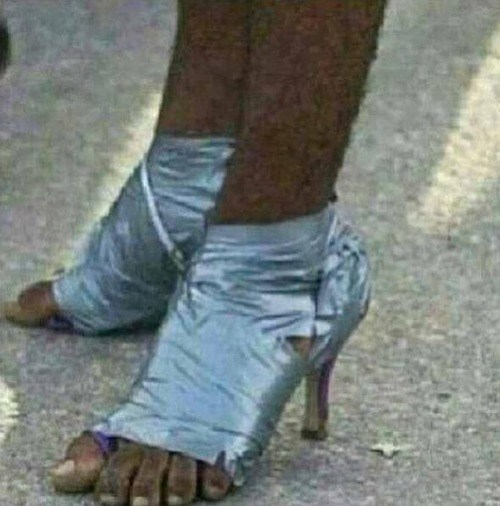 shoes fashion DIY high heels duct tape poorly dressed g rated - 7857884416