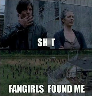 daryl dixon fangirls The Walking Dead - 7858122496