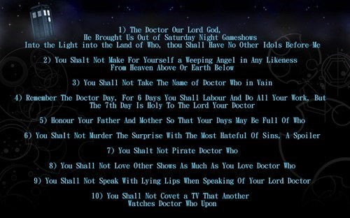 commandments doctor who - 7858170880