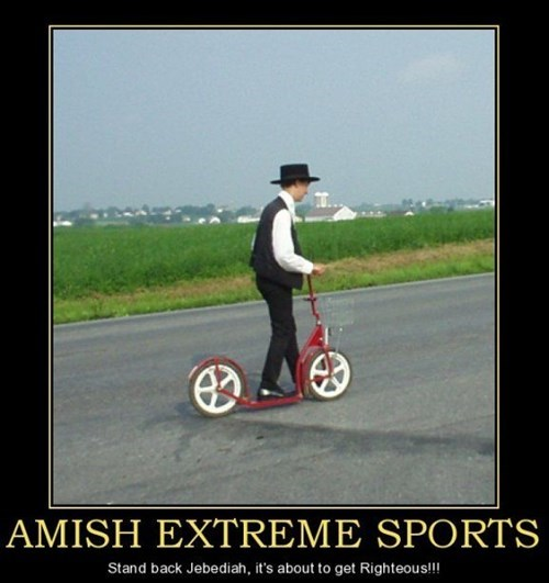 extreme sports wtf amish funny - 7858240512