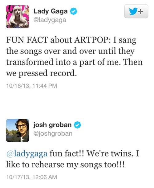josh groban,artpop,lady gaga,failbook,g rated