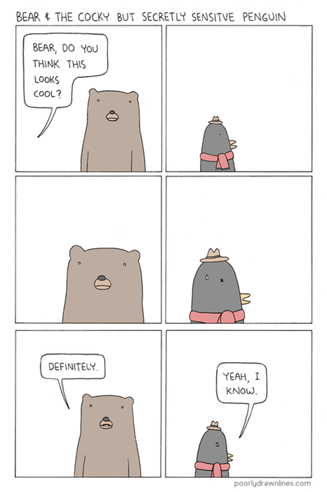 fashion,bears,penguins,funny,animals,web comics