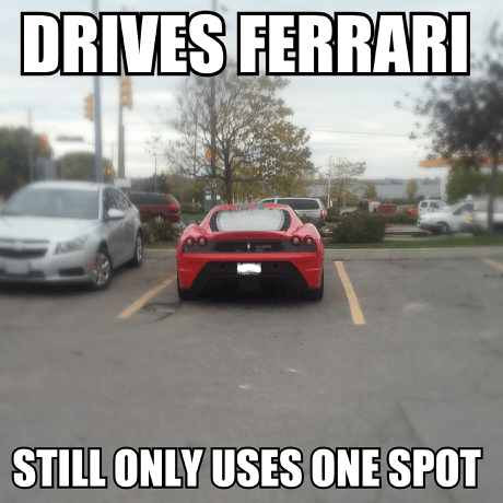 ferrari good guy parking - 7858397184