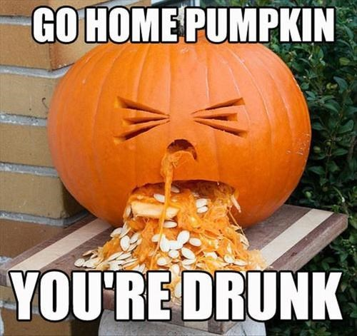 go home you're drunk pumpkins halloween hallowmeme g rated win - 7858408448