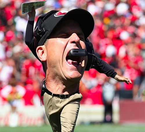 wtf sports jim harbaugh funny - 7858431744