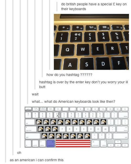 united kingdom america funny keyboard - 7858494464