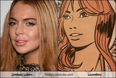 lindsay lohan,totally looks like,laureline,funny