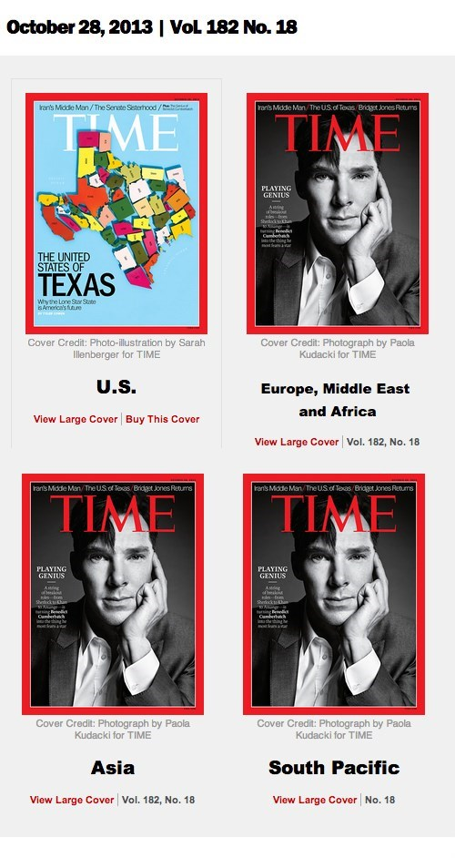 benedict cumberbatch,time magazine,america,texas