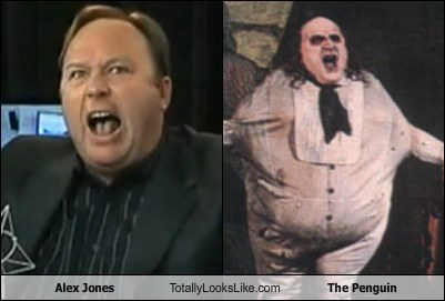 alex jones danny devito totally looks like The Penguin funny - 7859351040