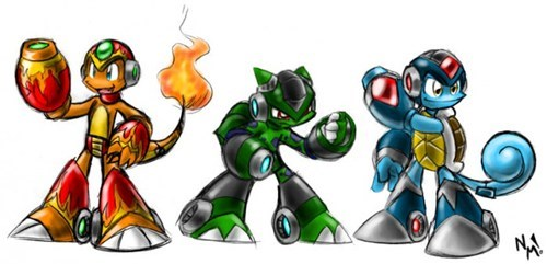 crossover Pokémon mega man - 7859424256