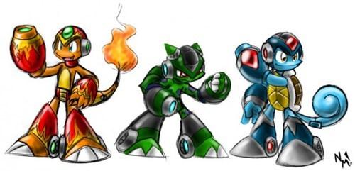 crossover Pokémon mega man - 7859424256