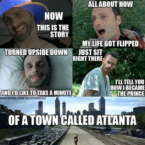 Rick Grimes,fresh prince,Atlanta,The Walking Dead