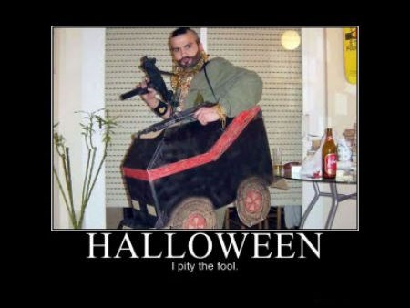 costume wtf halloween A Team mr t funny poorly dressed