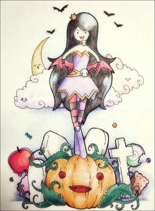 halloween Fan Art marceline the vampire queen adventure time - 7859679232