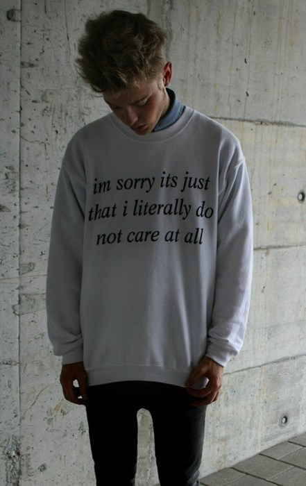 fashion dont-care sweater - 7859681024