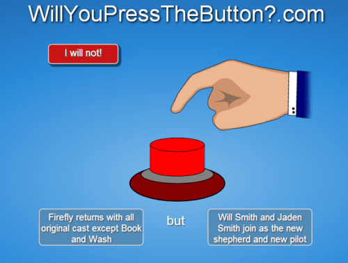 willyoupressthebutton jaden smith Firefly will smith - 7859714048