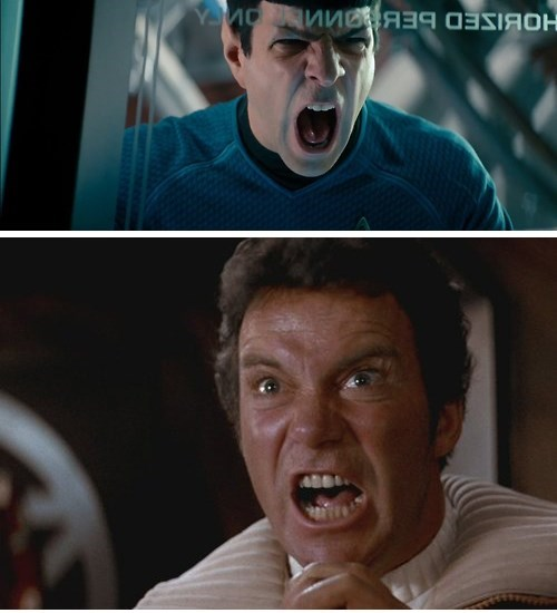 khan wrath of khan Spock kirk Star Trek