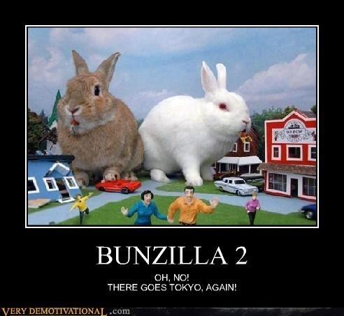godzilla vicious funny rabbits - 7859731712