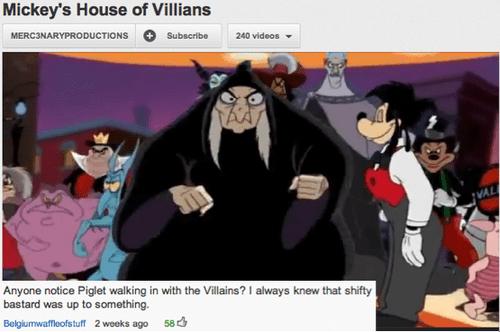 disney,villains,piglet