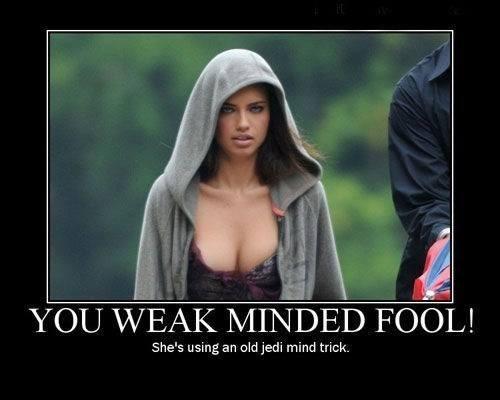 Sexy Ladies funny mind trick Jedi star wars - 7859775232