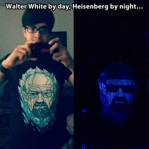 fashion breaking bad glow in the dark shirt - 7859801344