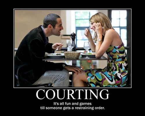 restraining order,courting,funny,dating