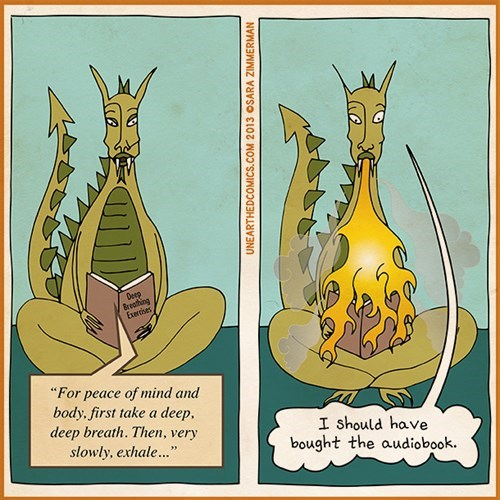 dragons funny yoga web comics - 7859827712