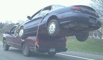 towing cars dangerous funny - 7859834880