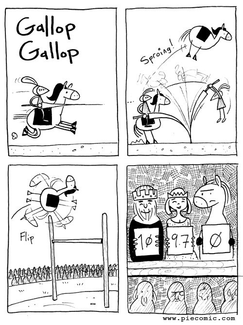 jousting horses funny web comics - 7859835136