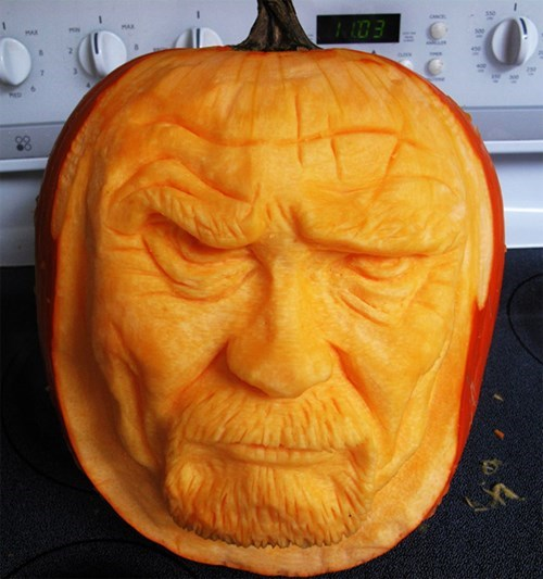 breaking bad,pumpkins,halloween,carving,funny,ghoulish geeks,jack o lanterns,famously freaky,g rated