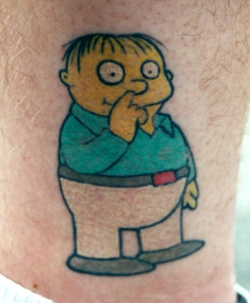 tattoos simpsons ralph wiggum tattoos funny