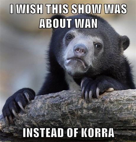 wan cartoons Avatar Confession Bear korra - 7860322816