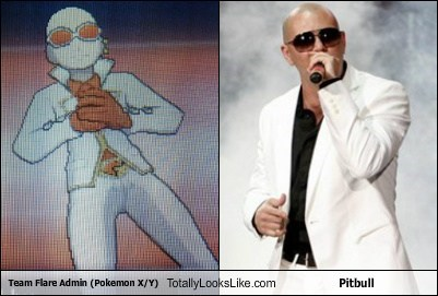 Pokémon,pitbull,totally looks like,team flare admin,funny
