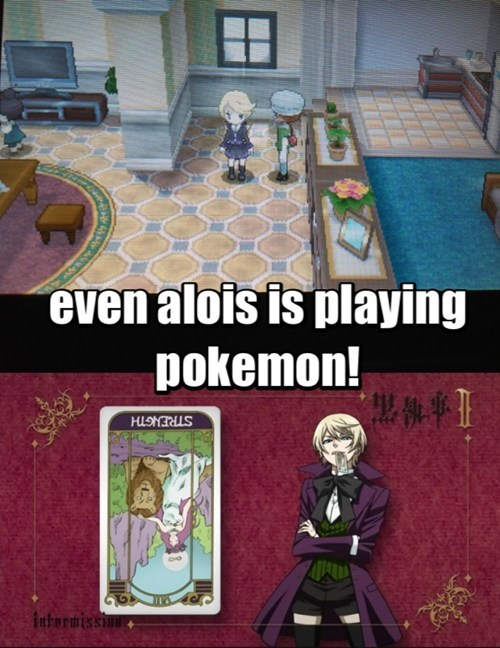 crossover Pokémon anime alois Kuroshitsuji - 7860573696