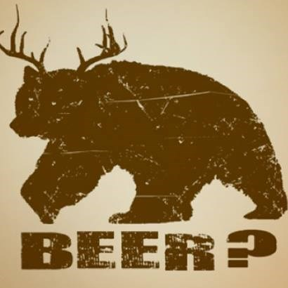 beer wtf antlers awesome bear funny - 7861083136