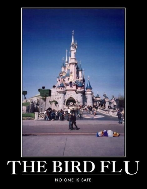 bird flu disney donald duck funny - 7861111808