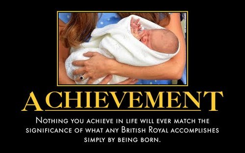 life achievement baby royalty British funny