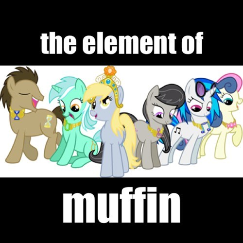 elements of harmony,lyra,derpy hooves,vinyl scratch,muffins,bon bon,octavia