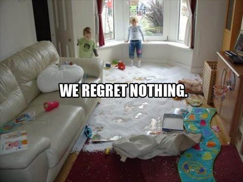 kids parenting making a mess