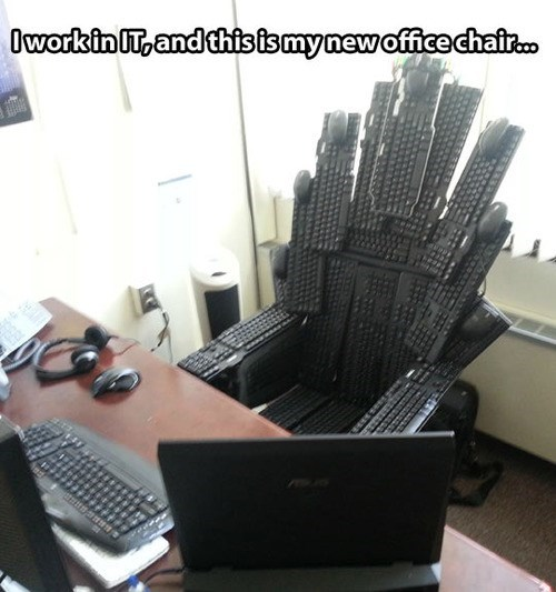 Game of Thrones,keyboard chair,office pranks,keyboards,monday thru friday,g rated
