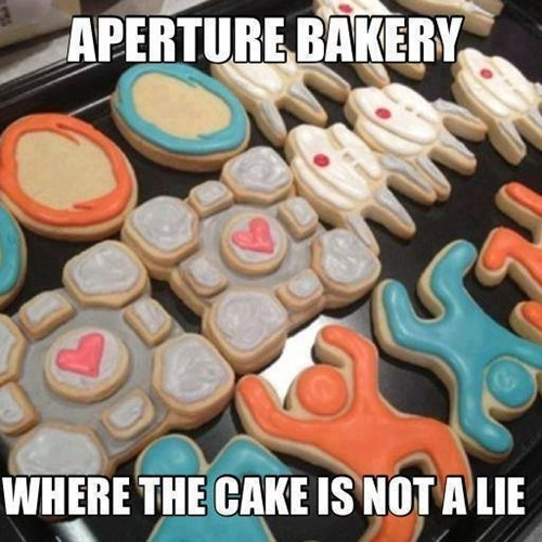 the cake is a lie bakery aperture Portal