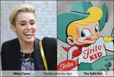 totally looks like the frito kid miley cyrus funny - 7862412288
