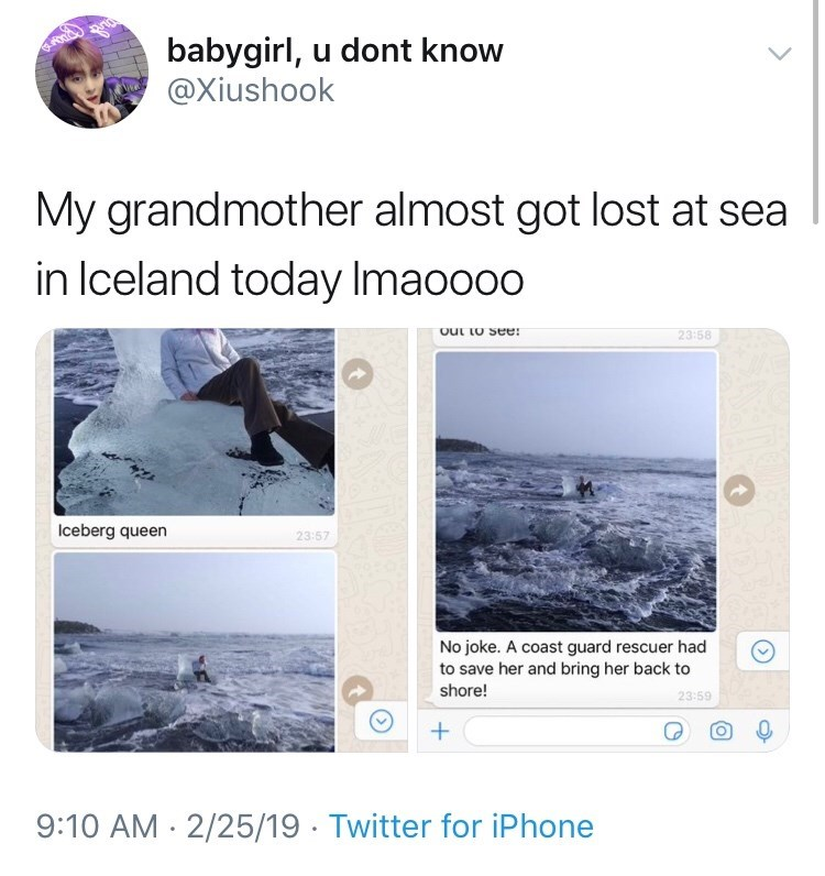 Iceland Badass iceberg queen legend cute grandmother funny iceberg - 7862533
