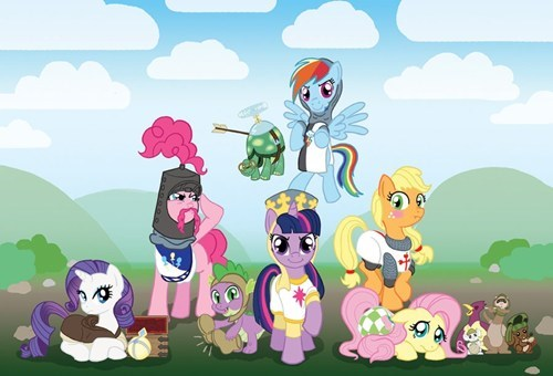 Fan Art mashup mane 6 MLP holy grail - 7862840832